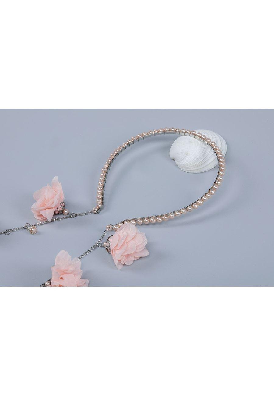 Asimod Çiçek Sallantılı Bride Taç