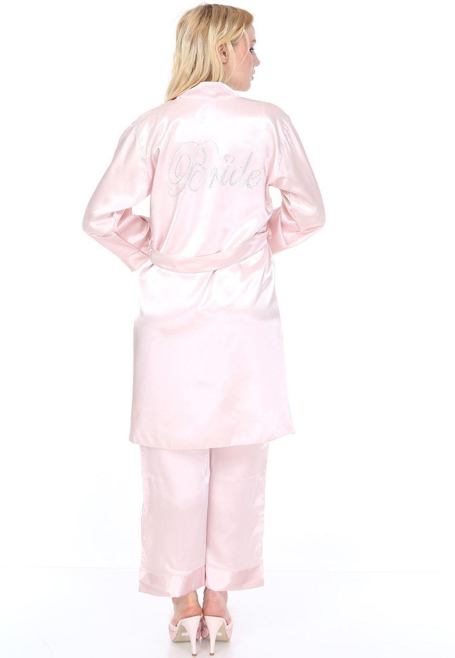 Asimod Kadın Bride Saten Üçlü Pijama Takım