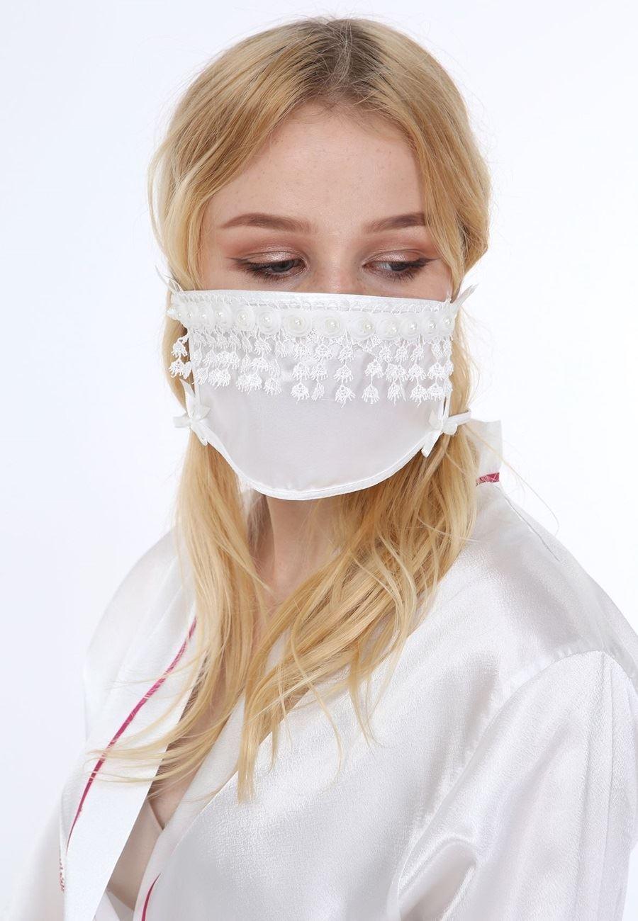 Asimod Bride Dantelli Aksesuar Maske