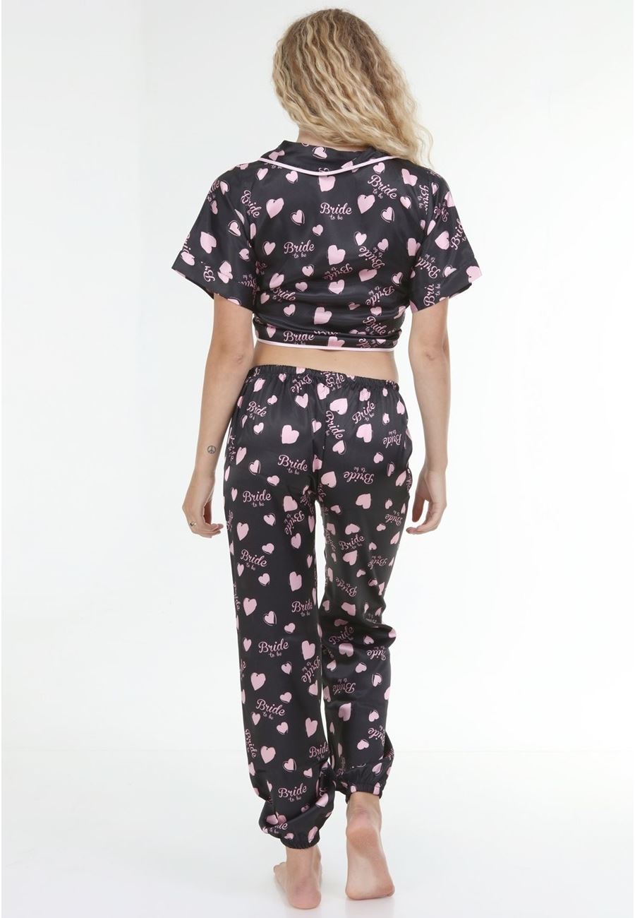 Asimod Kadın Bride Saten Pijama Takım