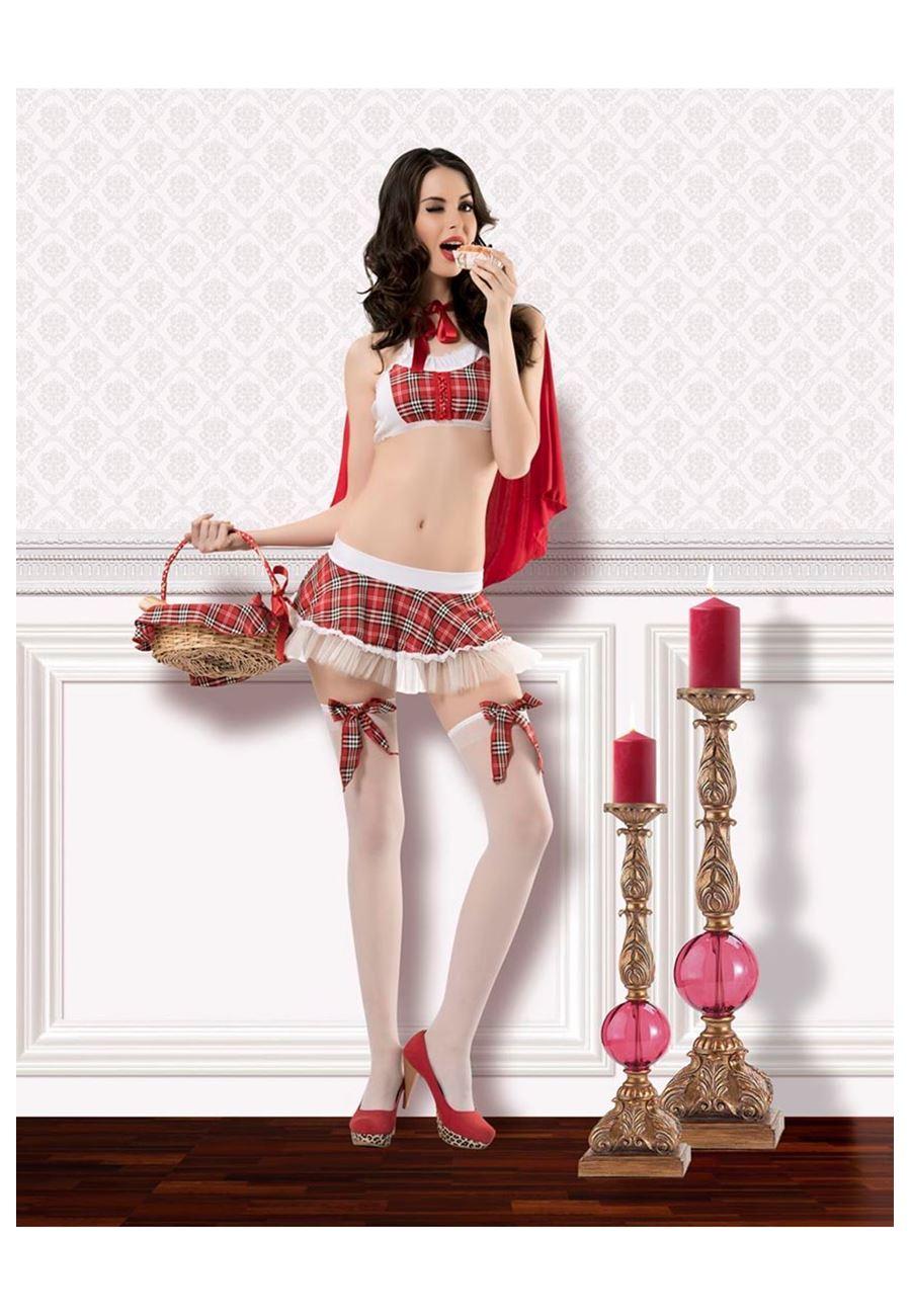 Vip Madame Kadın Kırmızı Başlıklı Kız Kostümü