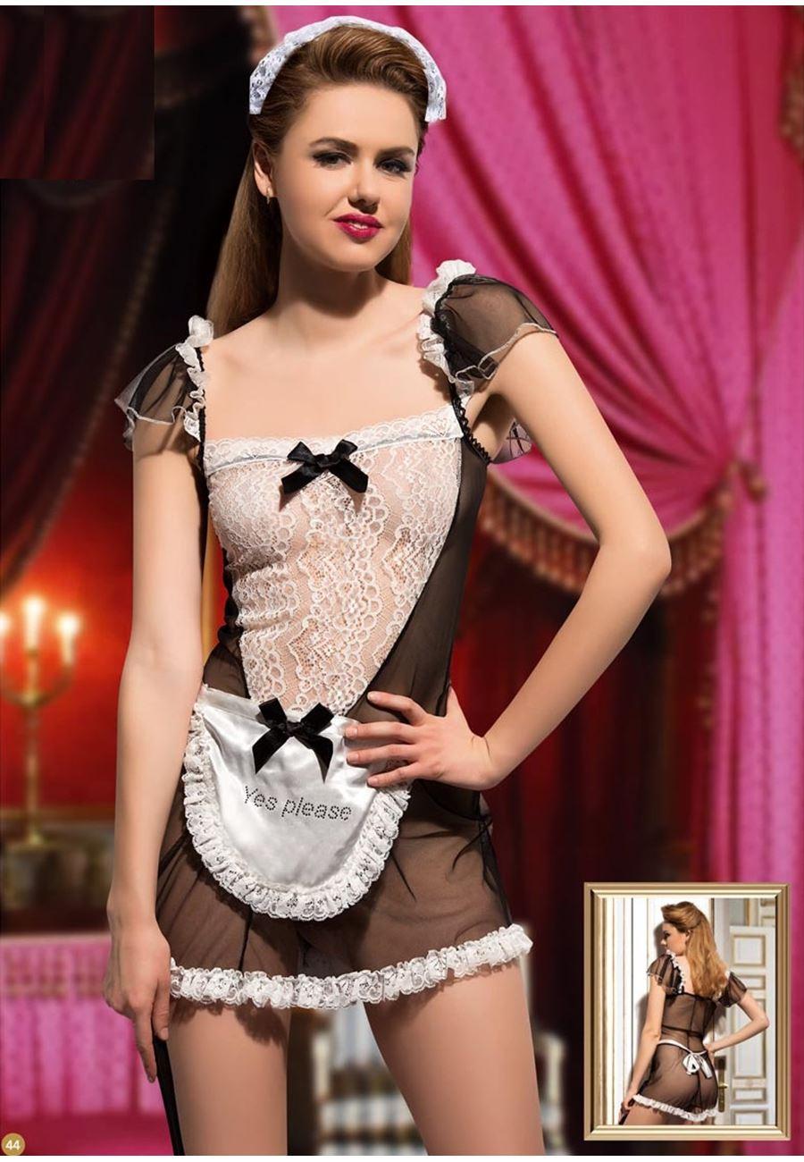 Vip Madame Kadın Fantezi Hizmetçi Kostüm